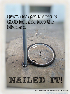 NAILED IT bicycle