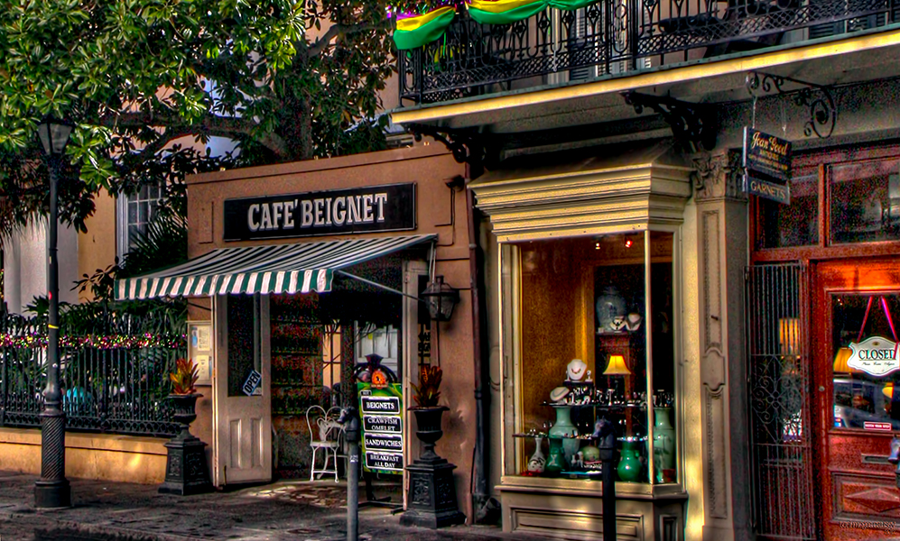 Cafe Beignet on Royal St. in the French Quarter