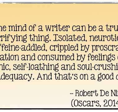 Perfect definition of a writer: