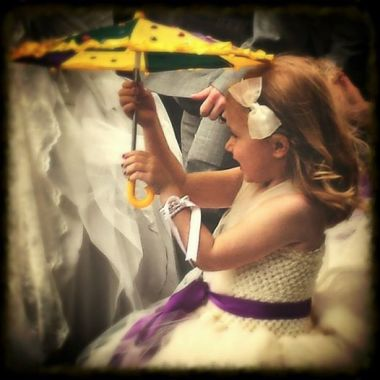 Littlest bridesmaid in a second line parade…